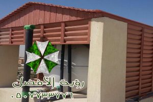 مظلات خشب شرايح باشكال هرمية لتغطية خزانات المياه